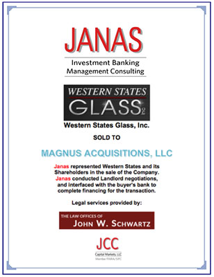 Western State Glass – Sale Completed